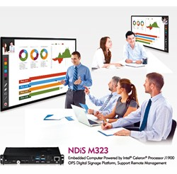 NDiS M323 Features  Intel® Celeron™ Processor J1900, Integrated Intel® Gen. 7 graphics, Dual SO-DIMM slots for up to 8GB of DDR3L 1333 memory, WWAN/ WLAN/ TV tuner support, Remote management, Comply with Open Pluggable Specification