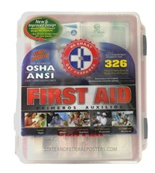 First Aid Kit with Hard Case from State and Federal Poster, Inc.