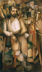 Albert Gleizes.  Man on a Balcony (Portrait of Dr. Morinaud), 1912.