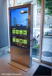 Interactive digital signage application for hospitality
