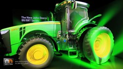 NEXT/NOW shows new John Deere 8R tractor with projection mapping