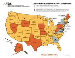 Laser hair removal map