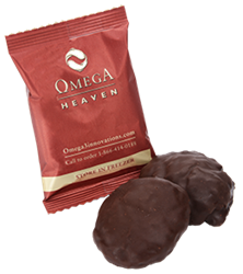 Slathered in decadent dark chocolate, the Omega Heaven contains a powerful combination of oat fiber and effective omega-3 fish oil (1000 mg EPA/DHA) that's good for your body and soul.