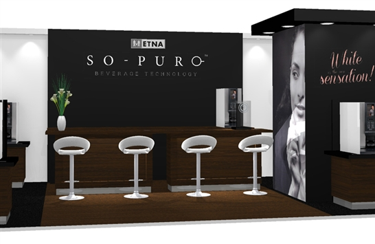 Exhibition Stand Coffee : Exhibition design stand company join forces with so pure coffee