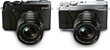 FUJIFILM X-E2 Digital Cameras - Black & Silver - Side by Side
