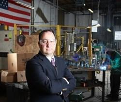 Drew Greenblatt, president of Marlin Steel Wire Products