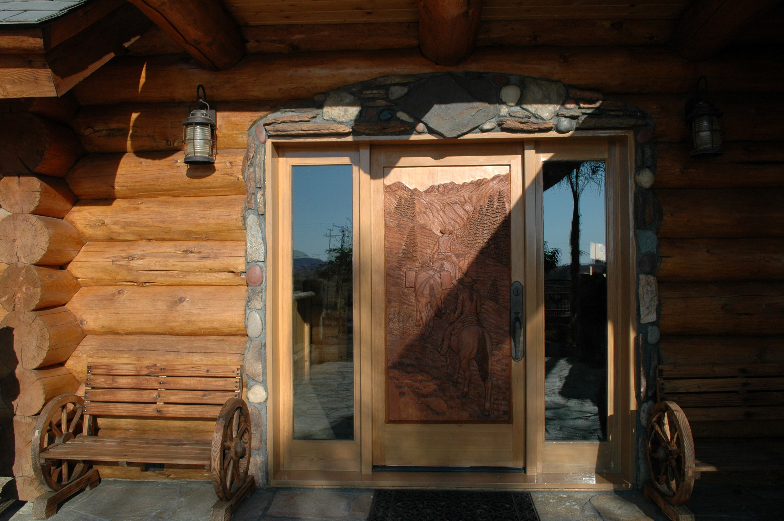 Showcase log home california acreage to sell at auction for Selling a log home