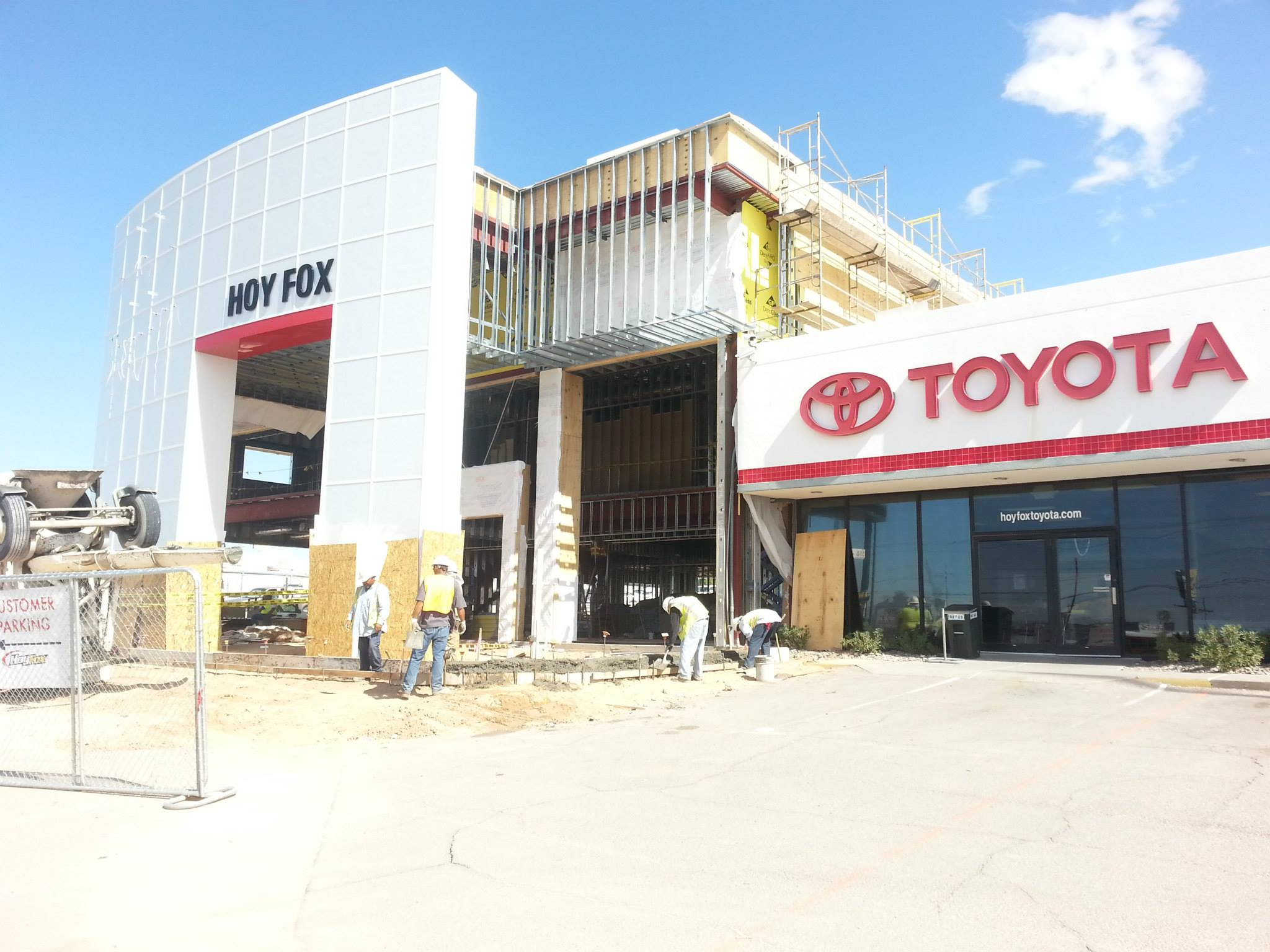 Toyota Dealership El Paso Tx >> Hoy Fox Toyota of El Paso, Texas Nears the Completion of the First Phase of their Dealership ...