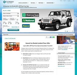 Outrigger Enterprises Group Selects Enterprise Holdings As