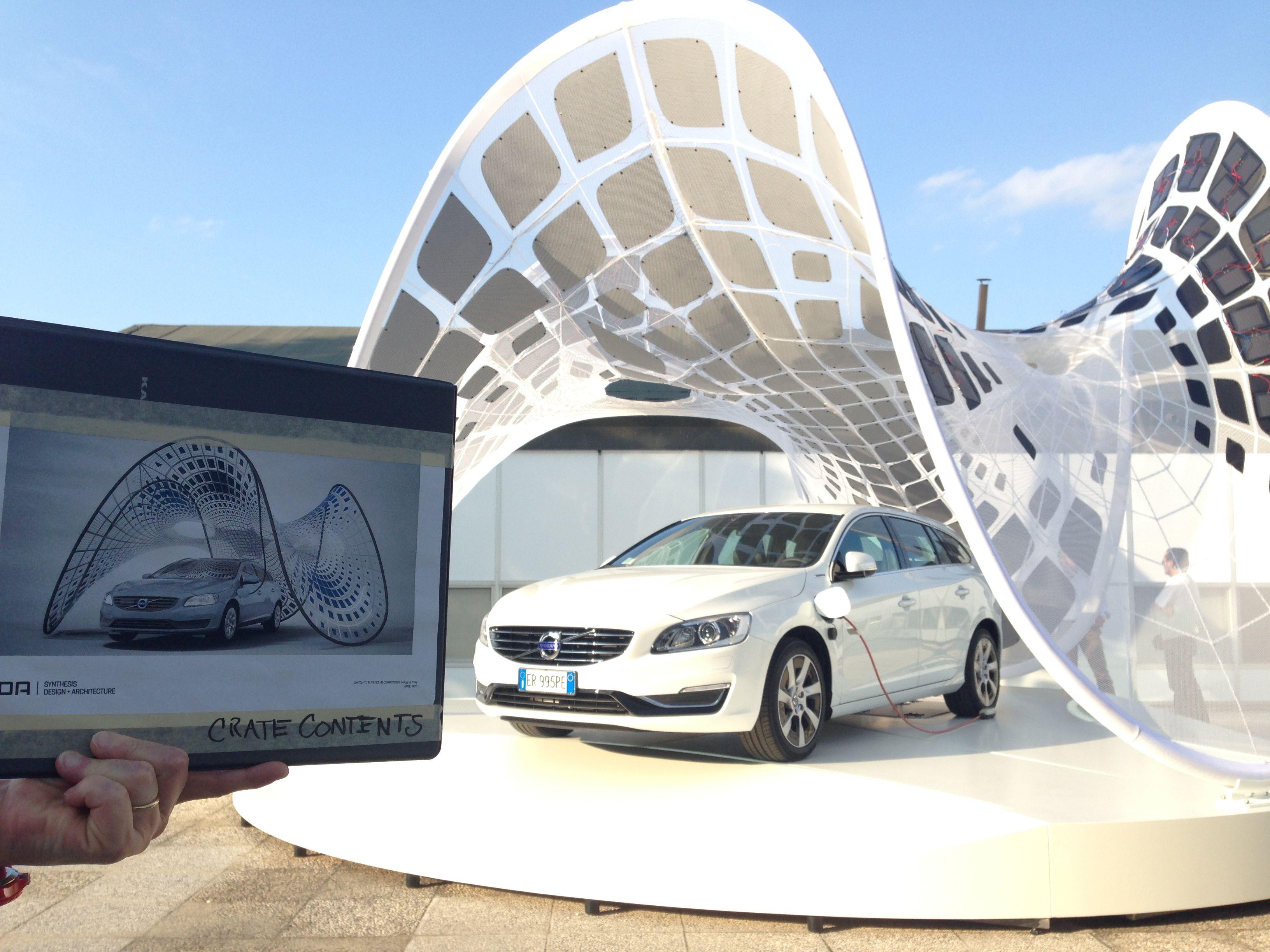 The Conceptual Solar Powerd Pure Tension Volvo Pavilion