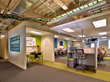 Inktel Contact Center Solutions's interior design appeals to the millennials who make up most of Inktel's workforce.
