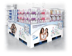 Dove® 4 pallet POD display