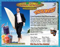 Maui Wowi attends West Coast Franchise Expo