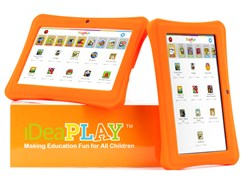 The iDeaPLAY tablet is especially built for kids to enjoy and designed to give parents peace of mind.