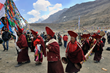 Grand Saga Dawa Festival is celebrated at Mt. Kailash in western Tibet. Thousands of pilgrims and travelers go to worship the holy mountain.