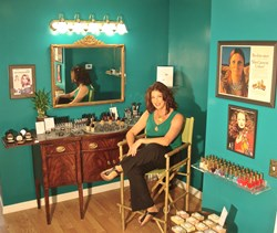Susan Giordano at the Giordano Beauty Boutique in Hastings