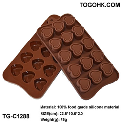 Double Heart Chocolate Molds