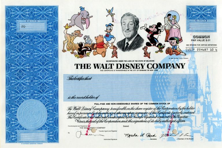 Disney Is One Of Many Companies No Longer Issuing Stock