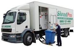 ShredPro Paper Shredding Truck