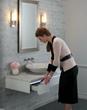 Robern Three Drawer Deep Bathroom Vanity 36 Center Sink drawer in White VD60BCL21
