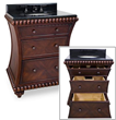 Hardware Resources VAN035-T - rosewood beaded Bathroom Vanity with preassembled top and bowl by lyn design
