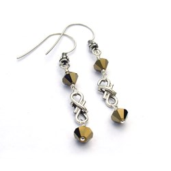 Eternal Reflection Earrings by Bead Lovers Korner