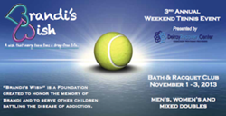 Brandi's Wish 3rd Annual Tennis Event. Drug Awareness and Prevention Fundraiser