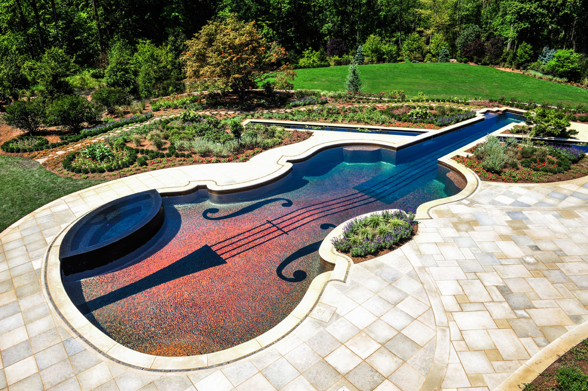 Bergen county nj all tile custom swimming pool awarded - Piastrelle per piscina esterna ...
