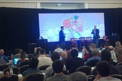 Chris Brewer and Brett Curry on Stage at Digital Retailer Association