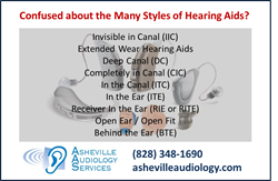 Hearing Aid Style Guide from Asheville Audiology Services of Asheville NC