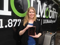 Kelly Mercer of 101 Mobility Received an Outstanding Employee Award