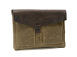 The Outback Solo for Surface Pro 4 or Surface Book—waxed canvas with chocolate brown leather flap