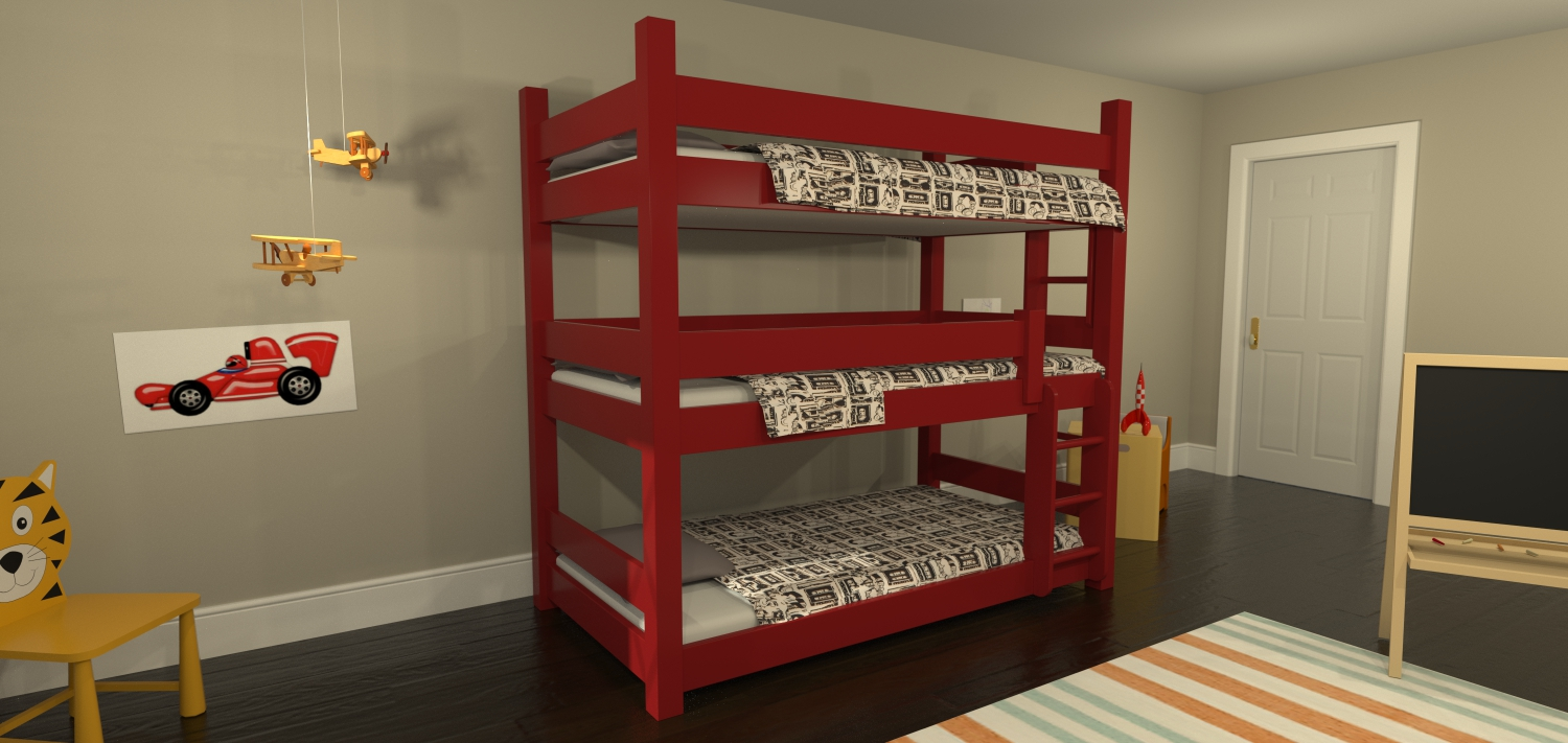 maine bunk beds red triple decker bunk bed red triple decker bunk bed ...