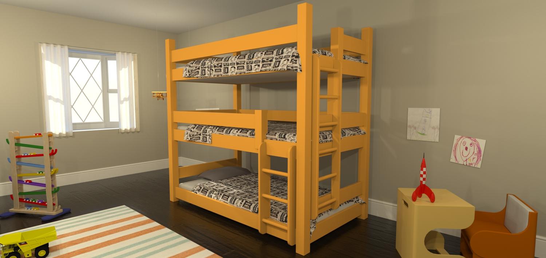 Maine Bunk Beds Announces Launch Of New Triple Bunk Bed