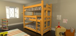 Maine Bunk Beds - Eco-Friendly Triple Decker Bunk Bed