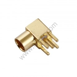 MMCX Female Right Angle PCB RF Connector