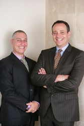 The president and CEO of Thrive, FP, Adrian Lufschanowski and JP Newman at the firm's new office space in Austin, Texas.