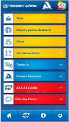 ASSIST CARD's Welcome to Colombia App