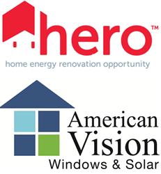 American Vision Windows and HERO Financing Logos
