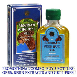 Pine Nut Oil With Pine Resin (Sap)
