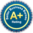 A+ Rating with the Better Business Bureau