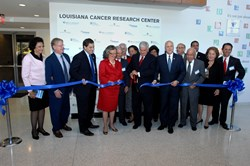 Louisiana Cancer Research Center (LCRC) officially dedicates its new 10-story, 180,000-square-foot state-of-the-art research facility.