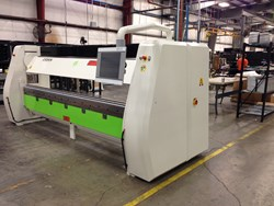 AMS recently purchased a customized Cidan door folding machine manufactured by Petersen.