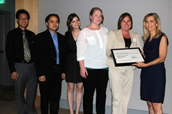 Integrated sustainable design firm, LPA Inc., accepts AIAOC Savings By Design award for McBride High School.