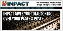 wordpress template creator how impact page builder