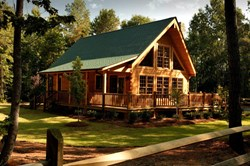 New Southland Log Homes model in Canton, TX