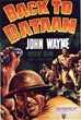 A movie poster for BACK TO BATAAN (1945) features a gritty, grenade-throwing John Wayne.