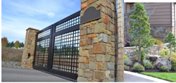 Gates, stone gates, luxury landscape design,ponds,outdoor living spaces,expert landscape masonry