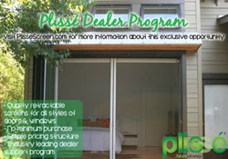 Plisse Retractable Screen Dealer Program
