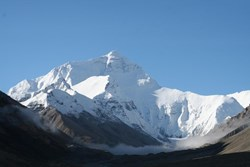 Mount Everest, the highest peak on earth.